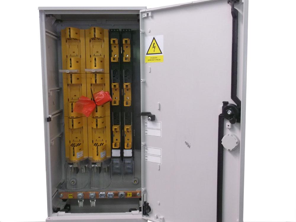 SR s poistkovými lištami 400A-160A