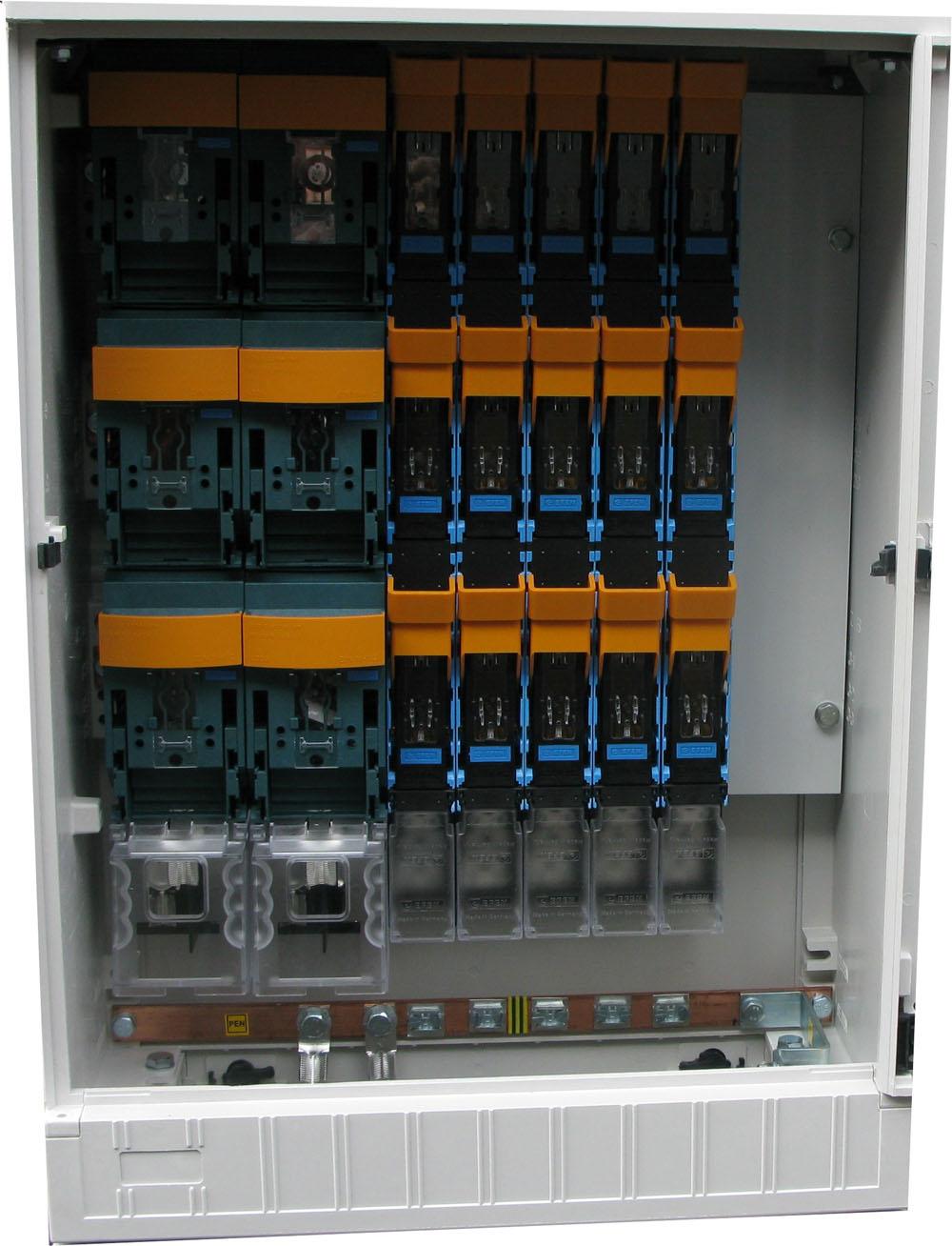 Výzbroj skrine SR DIN (príklad)